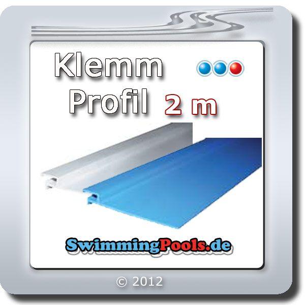 Pool klemm profilleiste f r folien mit keilbiese zum for Swimming pool folie erneuern