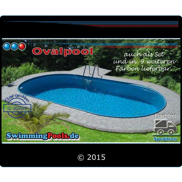 ovalpool 8x4x1 5 m pool oval ih 0 8 mm. Black Bedroom Furniture Sets. Home Design Ideas