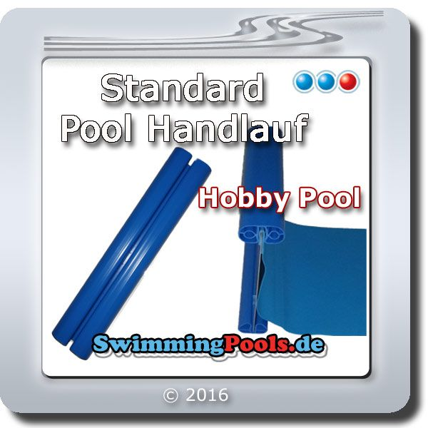 Standard pool handlauf 6 23 x 3 60 cm oval for Pool rund 3 60