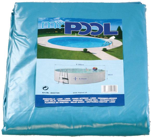 Poolfolie 400 x 90 cm rund 4 0 x 0 9 m ohne biese for Poolfolie 460 x 90