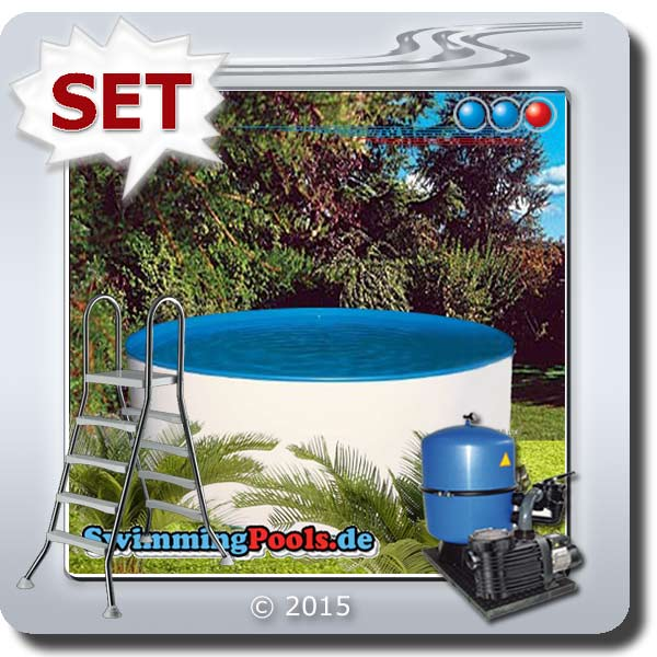 rundbecken 3 50 x 1 20 m komplett set 350 x 120. Black Bedroom Furniture Sets. Home Design Ideas