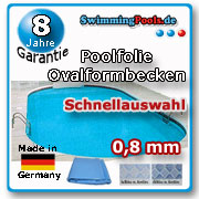 Poolfolie oval 0,8 mm