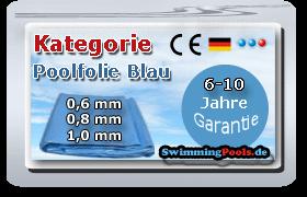 Ersatzfolie pool blau poolfolie kaufen for Poolfolie blau