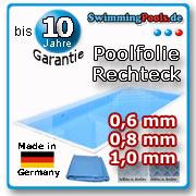 Ersatzfolie pool rechteckig folie innenh lle for Swimming pool folie erneuern