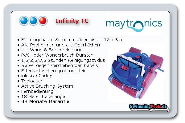 Poolroboter infinity tc for Swimming pool ausverkauf